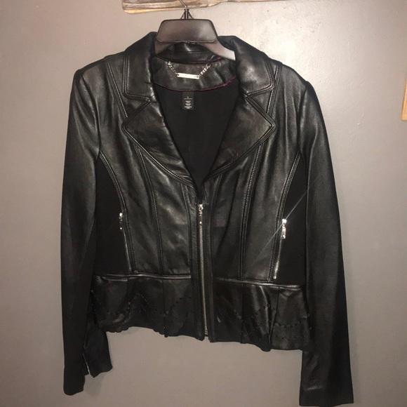 White House Black Market Jackets & Blazers - White House Black Market BNWOT leather jacket - L